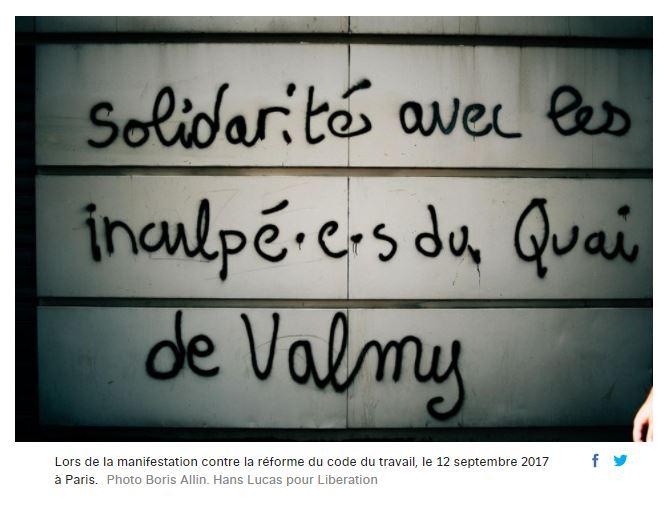 Capture d'écran du site de Libération