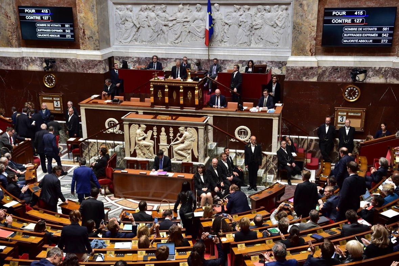 Vote à l'Assemblée nationale de la loi renforçant la sécurité nationale et la lutte contre le terrorisme, octobre 2017. / CHRISTOPHE ARCHAMBAULT