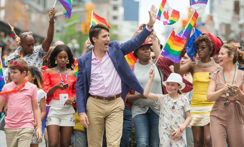 Justin Trudeau lors de la Gay Pride de Toronto, juin 2017. Photo: Geoff Robins