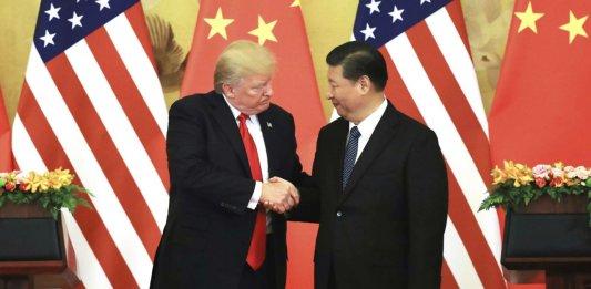 Donald Trump broie la main de Xi Jinping à Pékin, novembre 2017. SIPA. AP22127632_000001