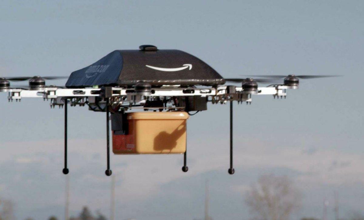 Drone Amazon, 2013. Sipa. Numéro de reportage : AP21490980_000001.