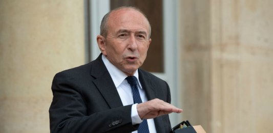 Gérard Collomb, avril 2018. SIPA. 00854029_000018