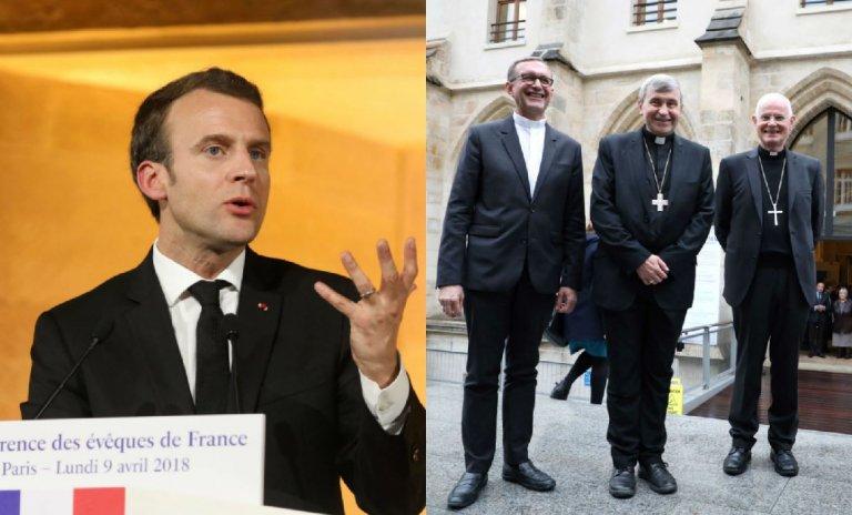 Heureux comme Macron chez les évêques