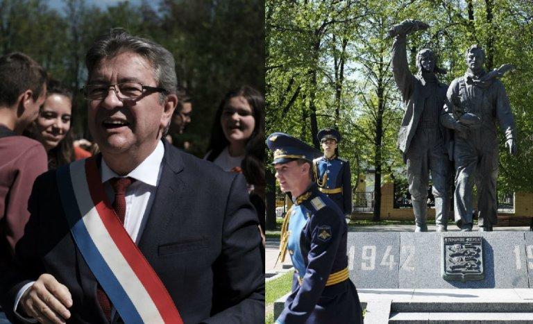 """9 mai: les faux amis """"communistes"""" de Mélenchon en Russie"""