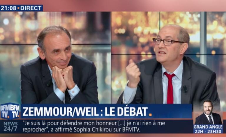 """Sur BFM TV, Zemmour est le mauvais élève face au """"bon"""" historien"""