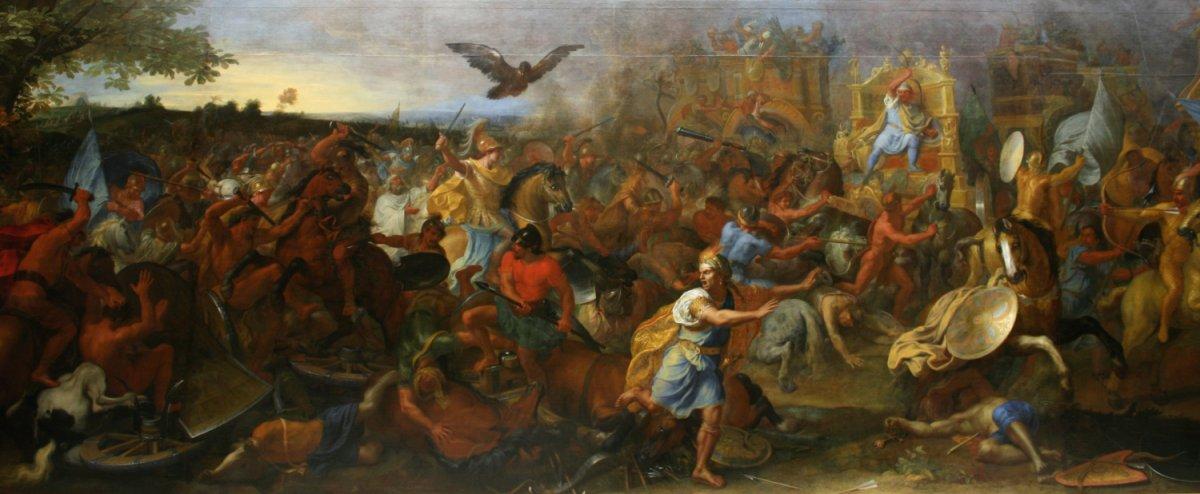 Charles Le Brun, La bataille d'Arbelles / Wikipedia, VladoubidoOo, domaine public