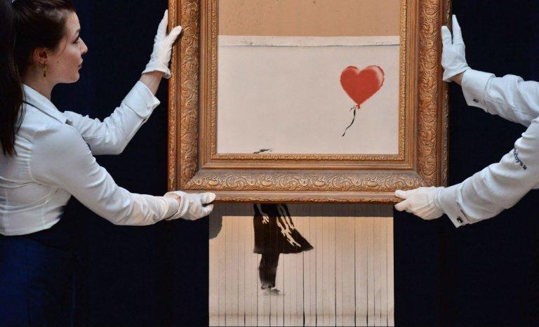 Mauvaise idée: le propriétaire d'un Banksy le détruit pour doubler sa valeur