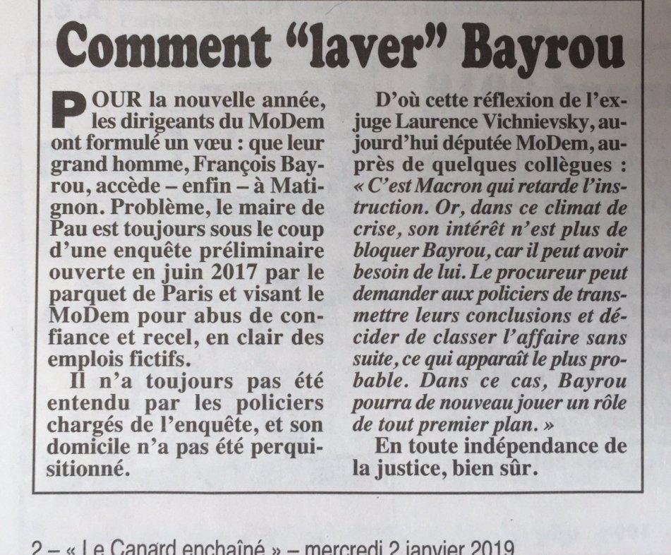 ©Le Canard Enchaîné, 2 janvier 2019.