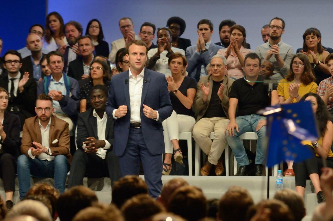 Emmanuel Macron à la Mutualité à Paris, juillet 2016. ©EREZ/SIPA /