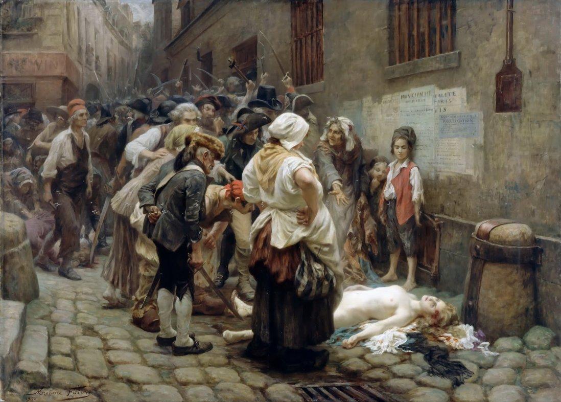 """""""La mort de la Princesse de Lamballe"""", toile de Maxime Faivre, 1908, musée de la Révolution française. / Domaine public"""