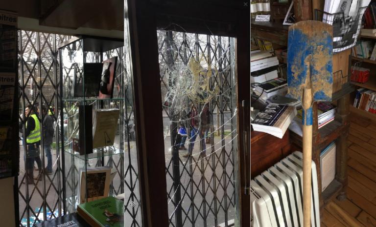 """""""Des gilets jaunes ont défendu la Nouvelle librairie contre les antifas"""""""