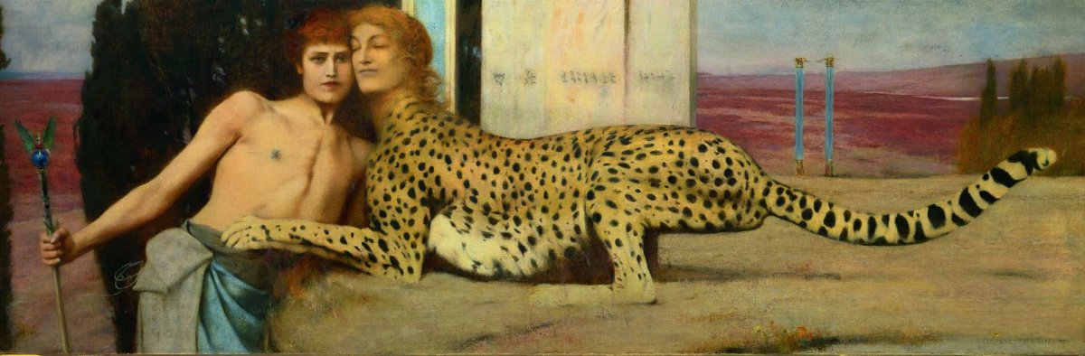 """Des caresses"" de Fernand Khnopff, 1896. ©J. Geleins Art Photography"