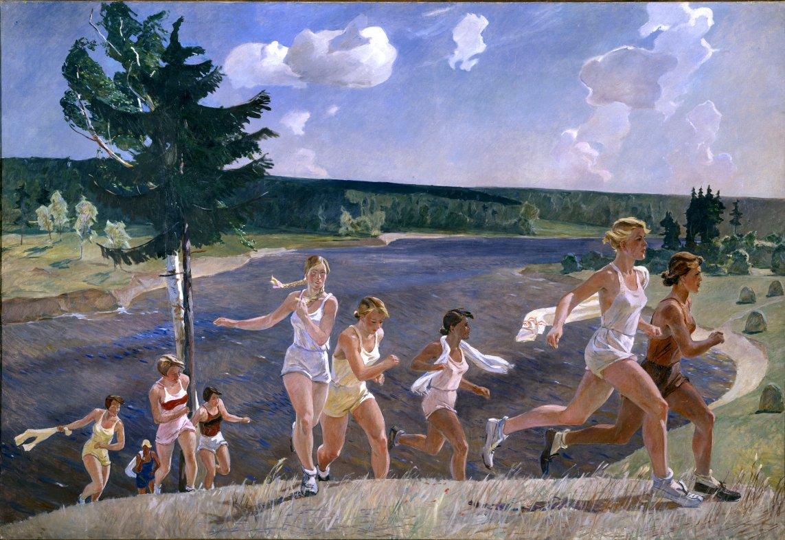 """""""Pleine liberté"""", Alexandre Deïneka, 1944 ©Adagp, Paris, 2019 / State Russian Museum, St. Petersburg"""