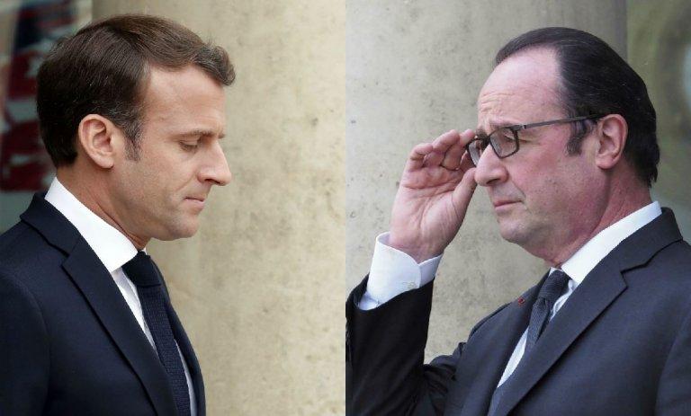 Face à Notre-Dame, Macron réagit comme Hollande