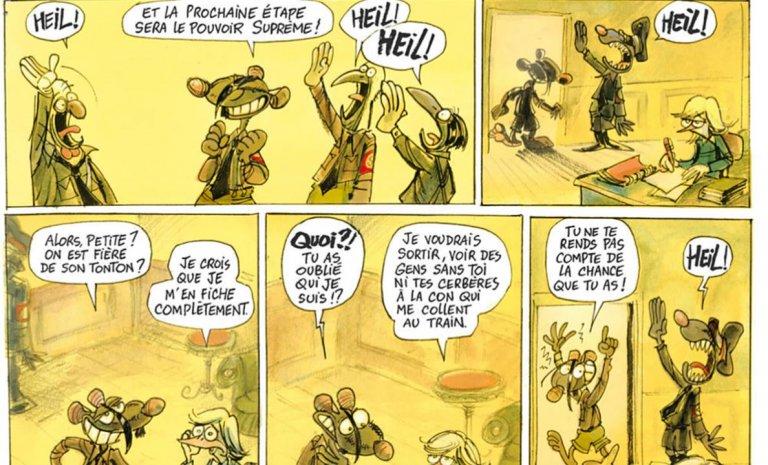 Supermal, Hitler en bande dessinée