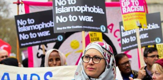"Marche ""contre l'islamophobie"" à Londres, mars 2019. ©Stephen Chung/LNP/REX/Shutterstock/SIPA / Shutterstock40700880_000005"
