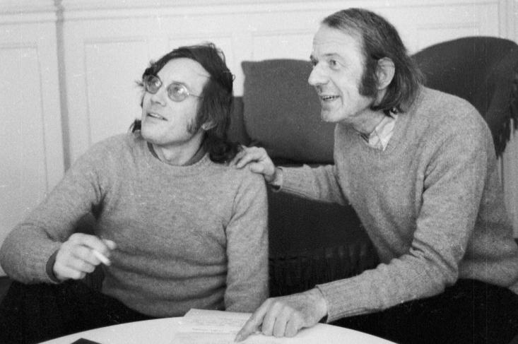 Les penseurs postmodernistes Felix Guattari et Gilles Deleuze (1975). ©Jerry BAUER/Opale/Leemage