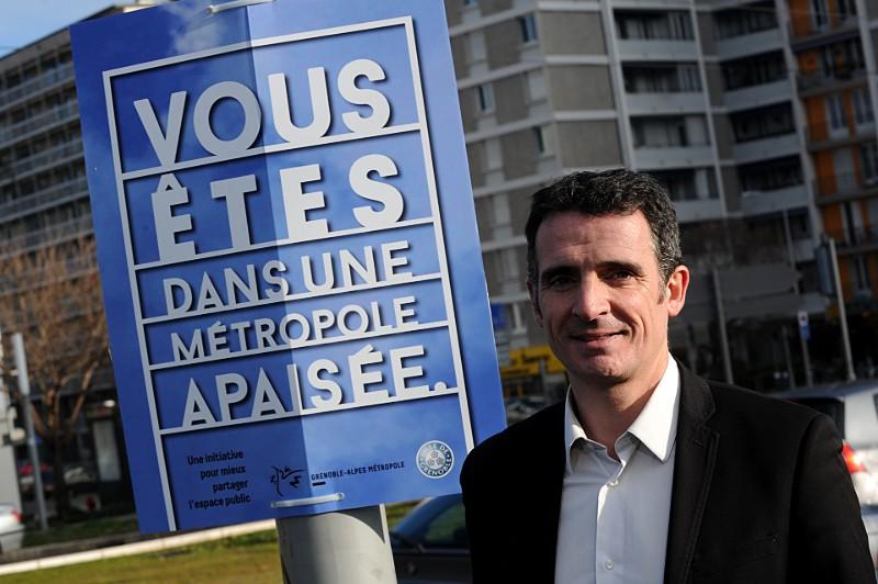 Le Maire de Grenoble Eric Piolle refuse d'entrer dans la polémique... © JEAN PIERRE CLATOT / AFP