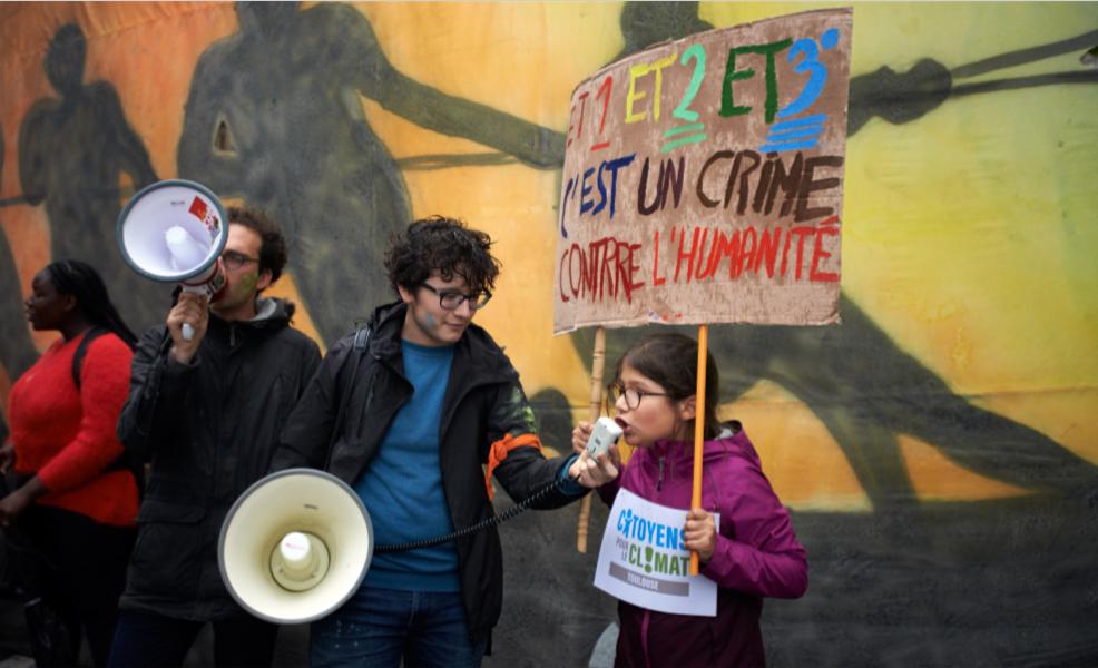 """""""Grève pour le climat"""" des collégiens, lycéens et étudiants à Toulouse, 24 mai 2019. Photo : Alain Pitton/NurPhoto/AFP"""