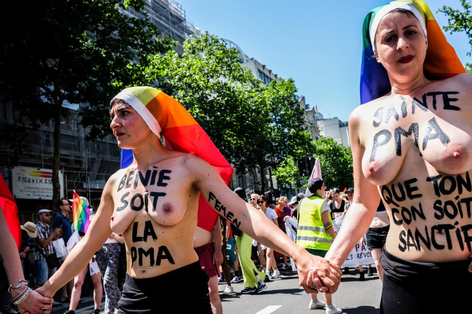 Marche des fiertés LGBT à Paris, le 29 juin 2019.