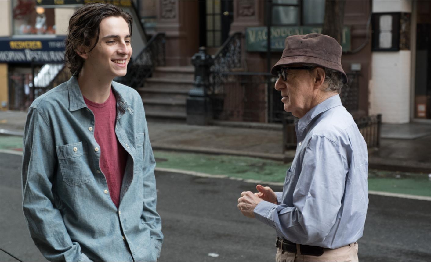 Timothée Chalamet et Woody Allen / Copyright Mars Films