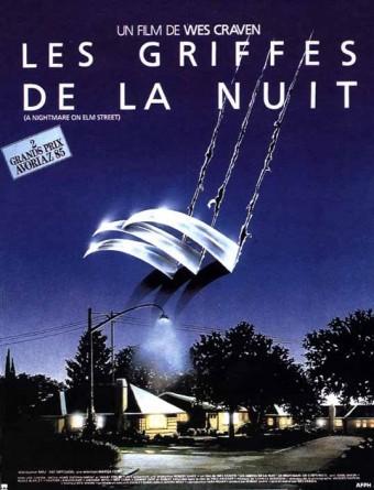 """Affiche """"Nightmare on Elm Street"""" / Les Griffes de la nuit de We Craven (1985)"""