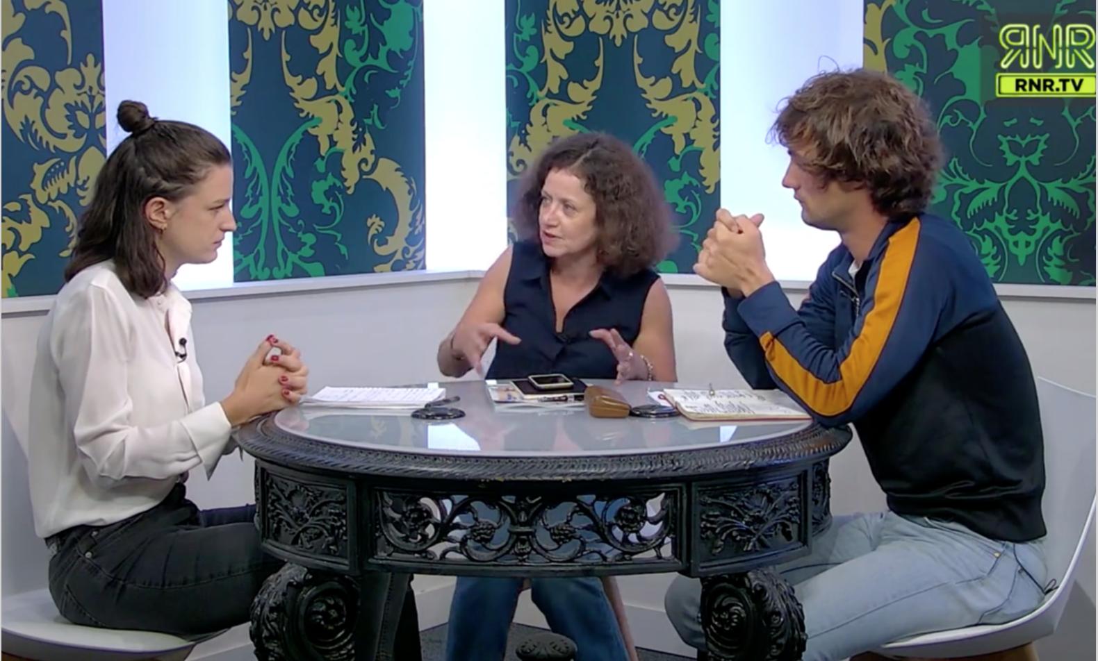 De gauche à droite, Eugénie Bastié, Elisabeth Lévy et Pablo Pillaud Vivien. Image: capture d'écran REACnROLL.