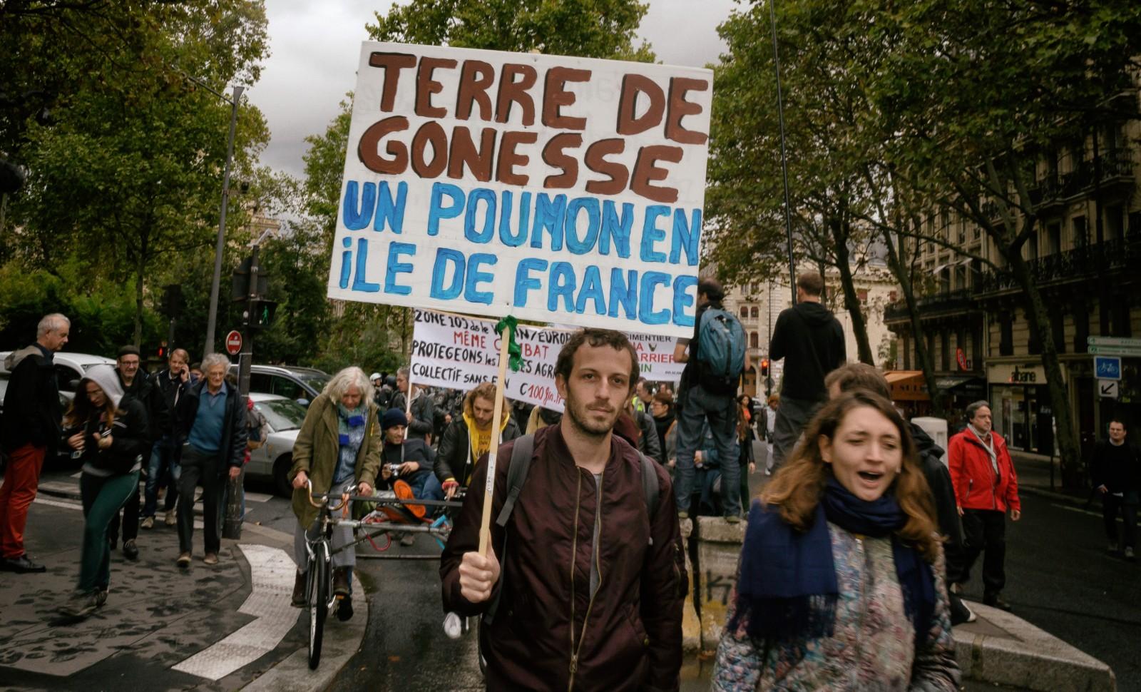 Manifestation contre le projet Europacity à Paris, le 5 octobre 2019 © MARTIN NODA / HANS LUCAS