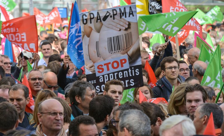 Malgré le succès de leur manifestation, les anti-PMA n'osent plus y croire