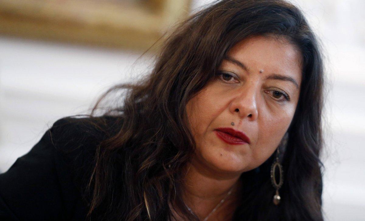 Sandra Muller le 25 septembre 2019, après sa condamnation judiciaire © Thibault Camus/AP/SIPA Numéro de reportage: AP22381700_000003