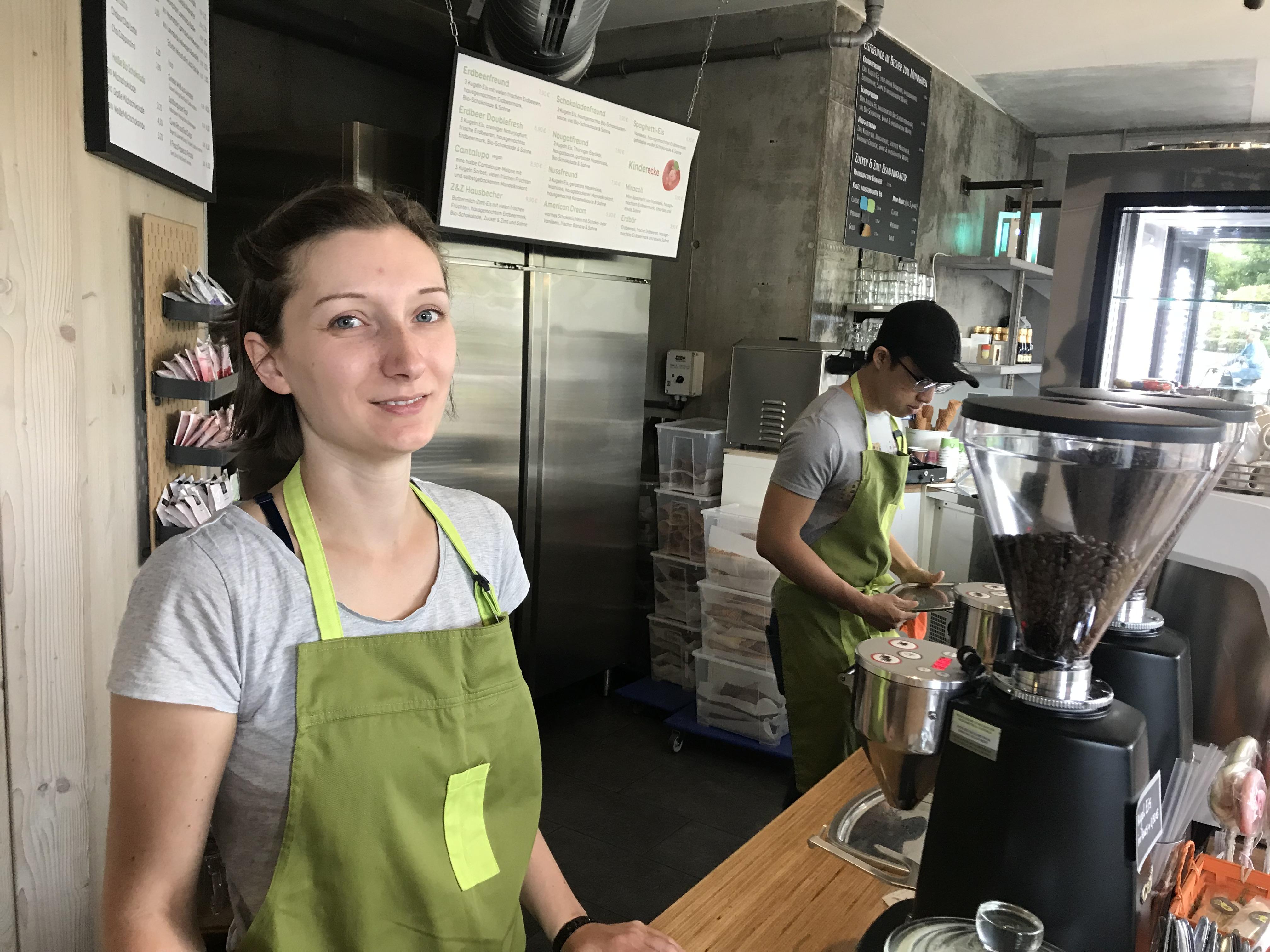 Kati Thiele, gérante du café Zucker & Zimt.