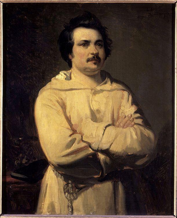 """""""Portrait de Honore de Balzac (1799-1850)"""" Peinture de Louis Boulanger (1806-1867) 19eme siecle. Tours. Musee Des Beaux Arts (c) Photo Josse / Leemage"""