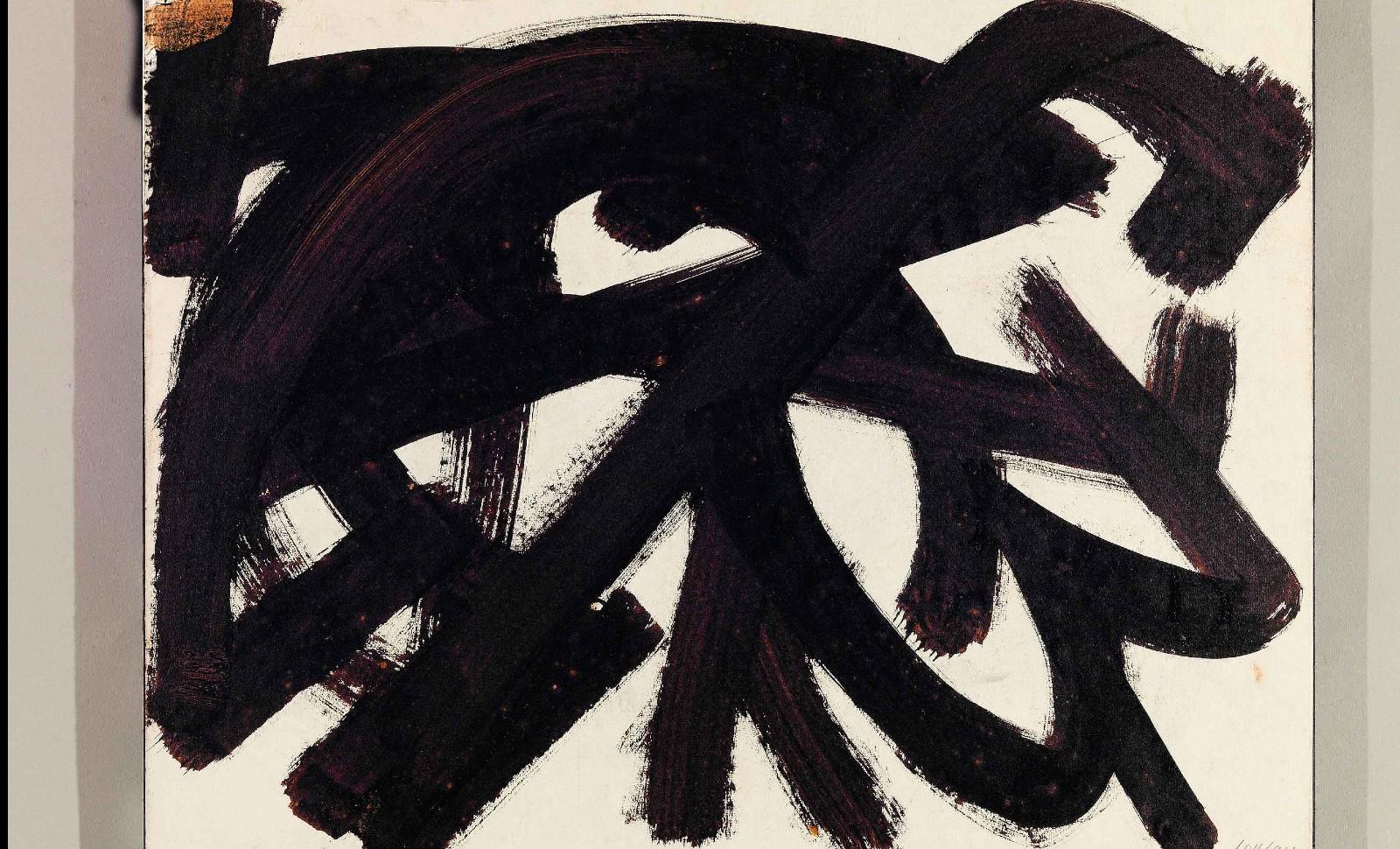 Pierre Soulages, Brou de noix, 48,2 x 63,4 cm, 1946, Rodez, Musée Soulages © Archives Soulages © ADAGP, Paris 2019