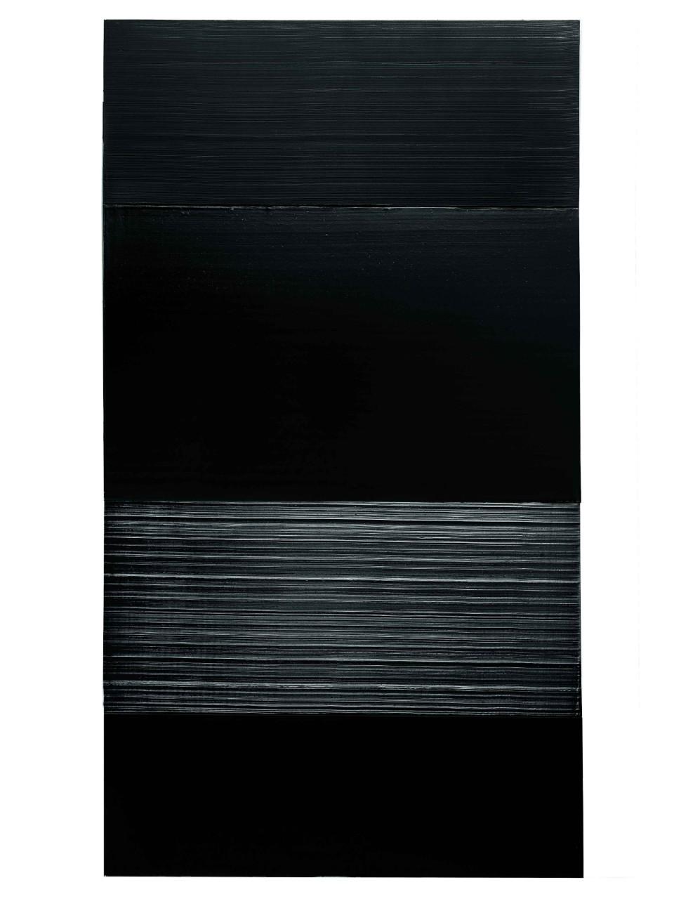 Peinture, 326 x 181 cm, 14 mars 2009 (acrylique sur toile), Pierre Soulages.