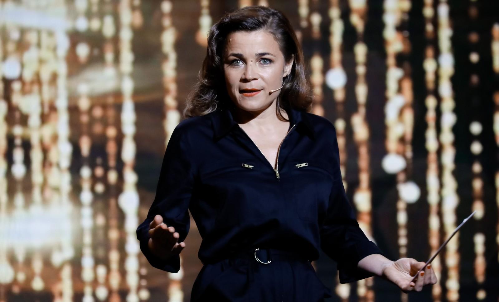 Blanche Gardin à la 30ème cérémonie des Molières le 28 mai 2018 à la salle Pleyel à Paris. © Romuald MEIGNEUX/ SIPA