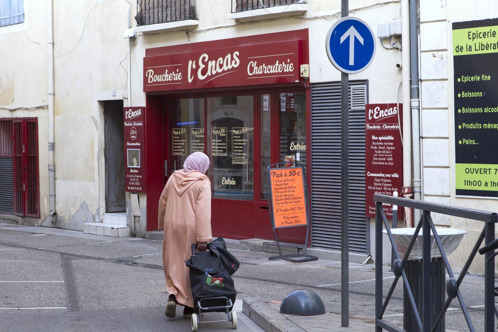 Boucherie Hallal, Lunel. Photo : Guillaume.