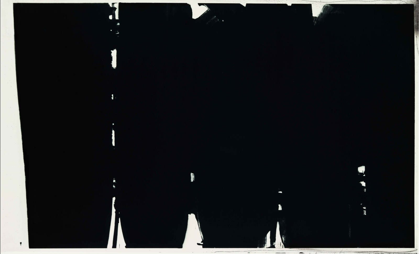 Pierre Soulages, Peinture 220 x 366 cm, 14 mai 1968, Paris, Musée National d'Art moderne - Centre Pompidou © Archives Soulages © ADAGP, Paris 2019
