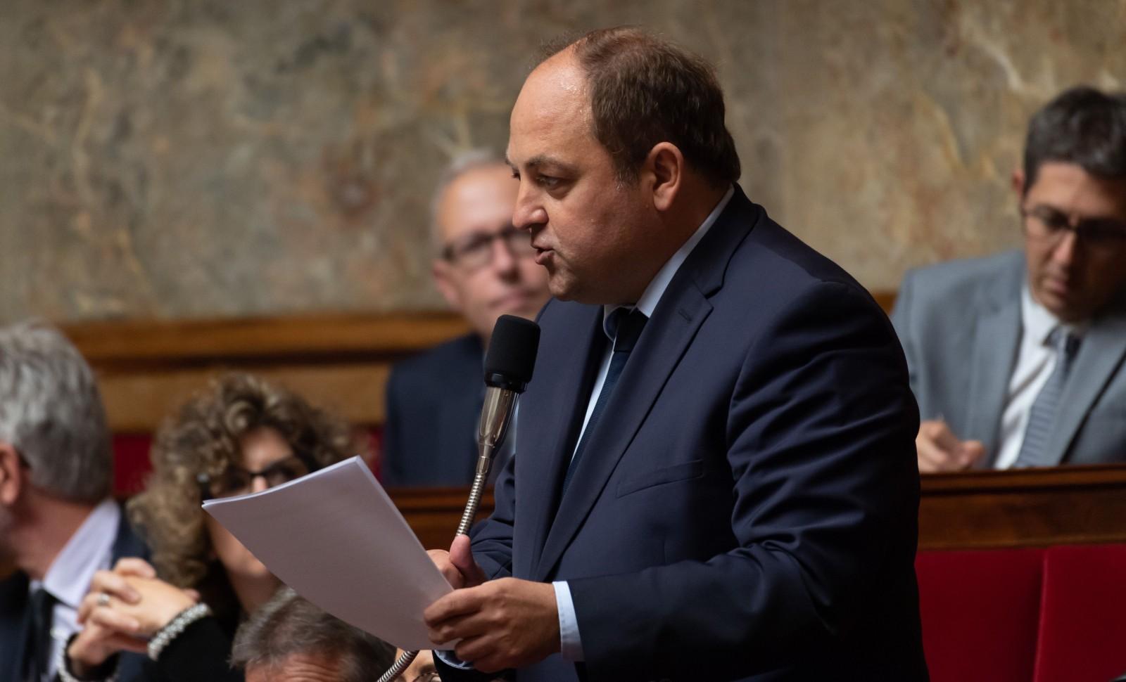 Raphaël Gauvain à l'Assemblée Nationale le 3 octobre 2018. © Jacques WITT/ SIPA