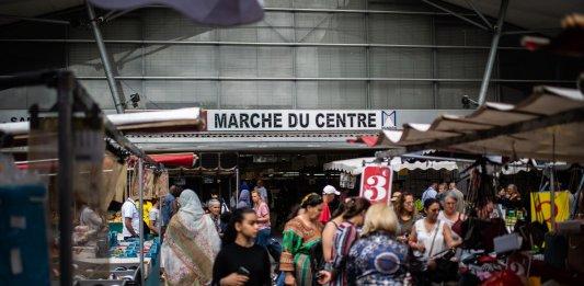 Marché du centre-ville d'Aubervilliers, mars 2019. ©Martin BUREAU/ AFP