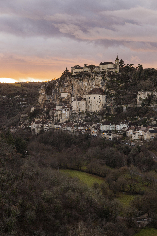 Un paysage français: le village de Rocamadour, étape du chemin de Saint-Jacques-de-Compostelle © AFP
