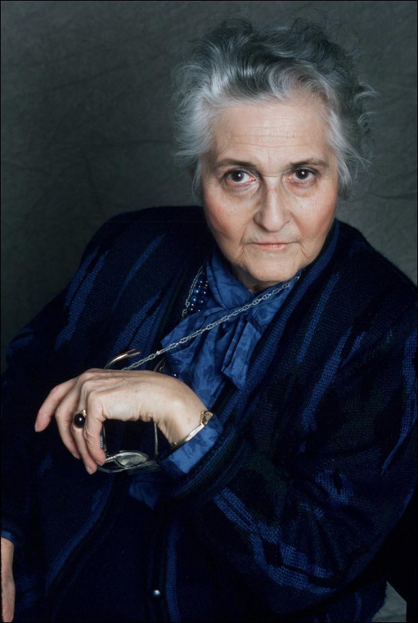 Françoise Dolto, 1988 © Ulf Andersen/ Aurimages/ AFP