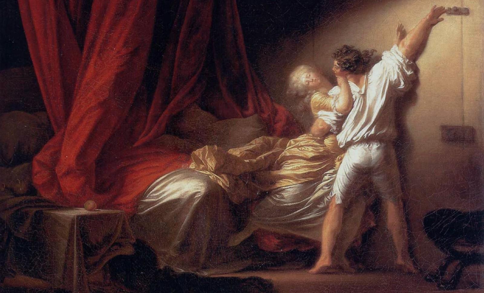 """""""Le Verrou"""" Jean Honoré Fragonard - Musée du Louvre D.R"""
