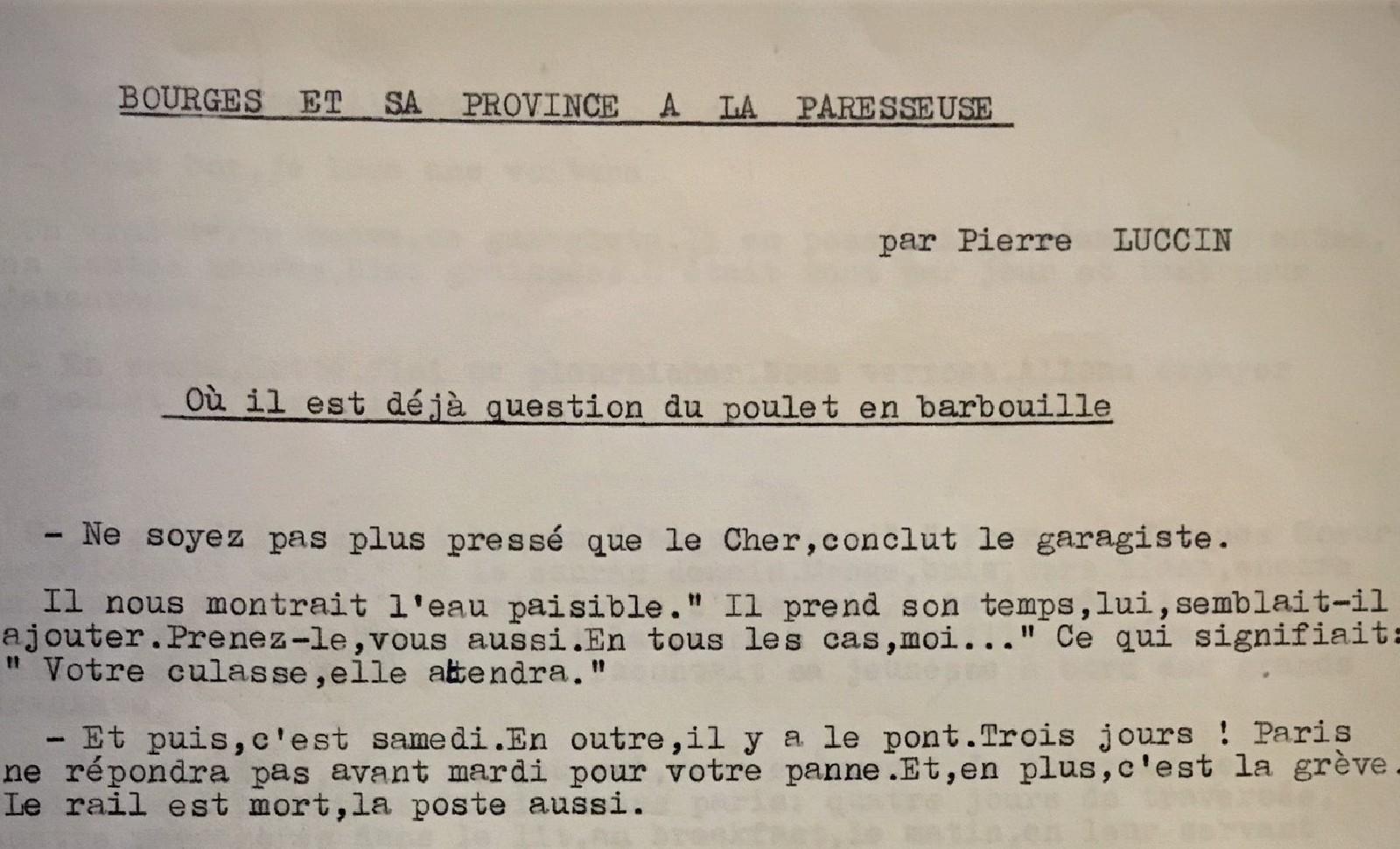 Manuscrit de Pierre Luccin