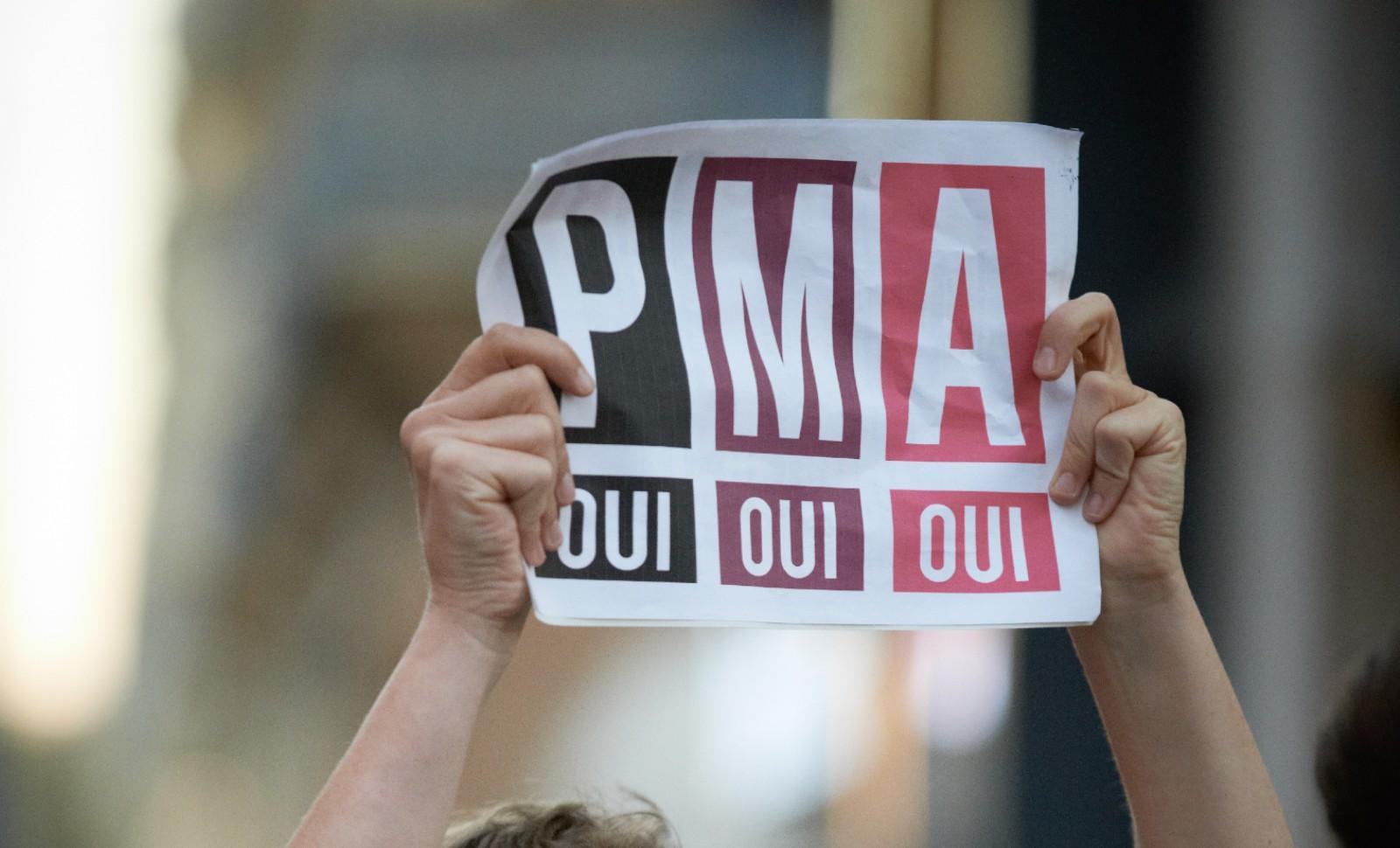 Mobilisation d'Act up contre un rassemblement de la Manif pour tous à Toulouse, 4 octobre 2018. © Alain Pitton/ Nurphoto/ AFP