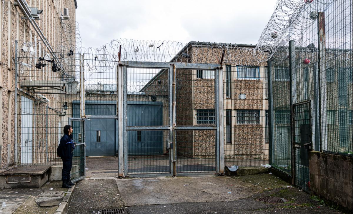 La prison de La Talaudiere (Saint Etienne) dans le département de la Loire, photographiée en 2019 © KONRAD K./SIPA Numéro de reportage: 00933744_000026