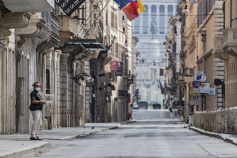 rome italie covid confinement