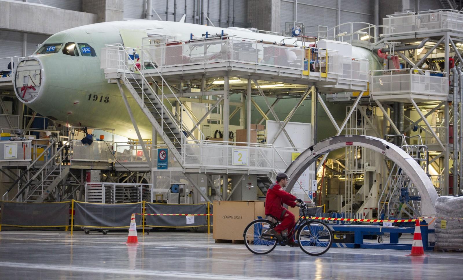 Site Airbus de Colomiers © SCHEIBER FREDERIC/SIPA Numéro de reportage: 00885909_000005
