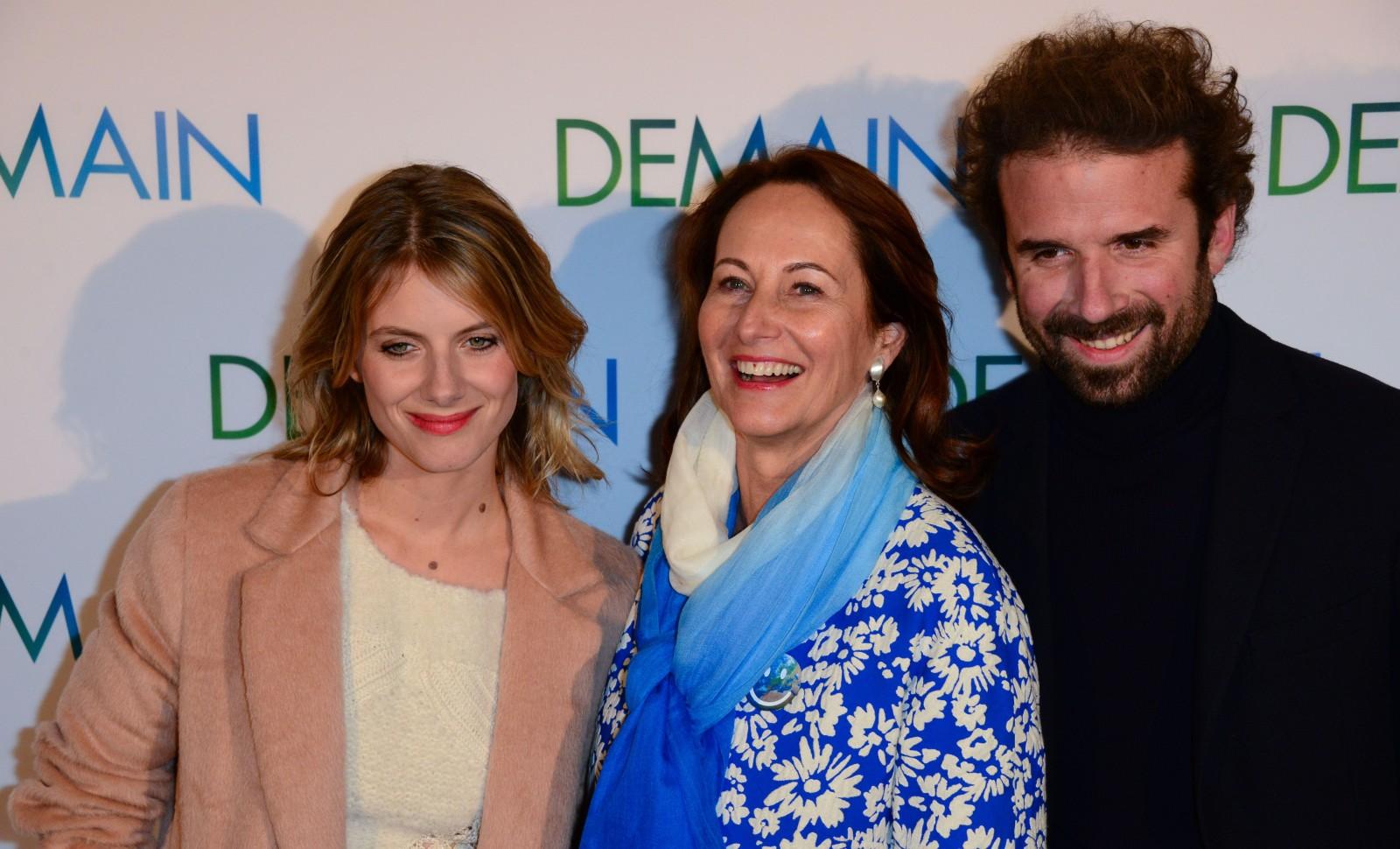 Mélanie Laurent, Ségolène Royal et Cyril Dion © LAURENT BENHAMOU/SIPA Numéro de reportage: 00732975_000052