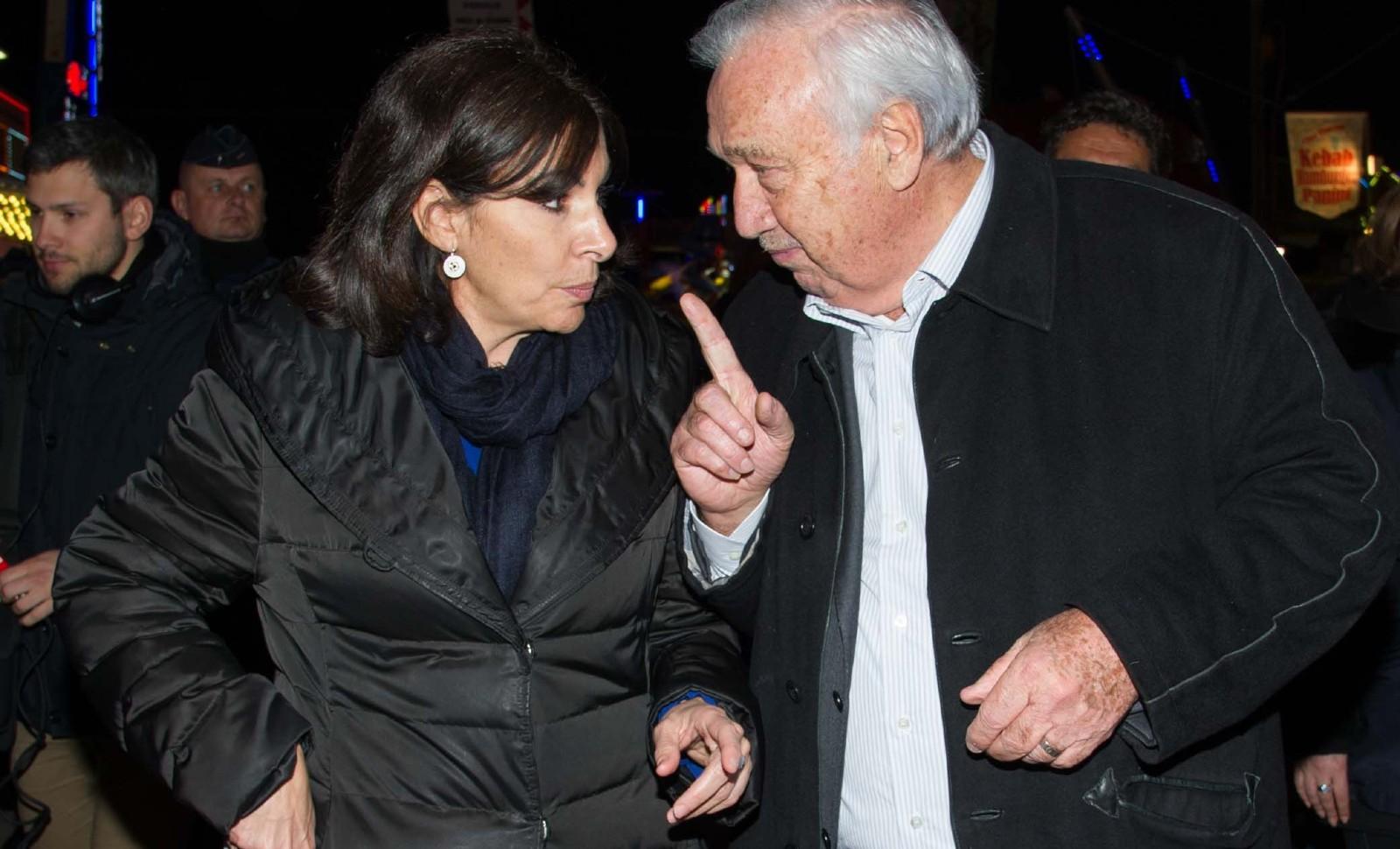 Anne Hidalgo et Marcel Campion, en 2016 © COLLOT HENRI/SIPA Numéro de reportage  : 00748607_000005