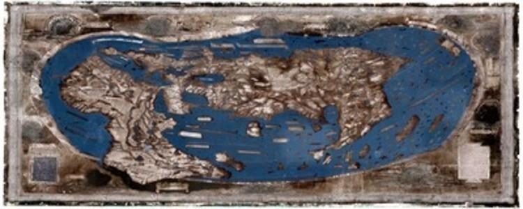 La planisphère utilisée par Christophe Colomb lors de sa première expédition pour les Indes.